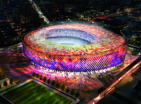 """Barça : Les """"socios"""" approuvent la rénovation du Camp Nou"""