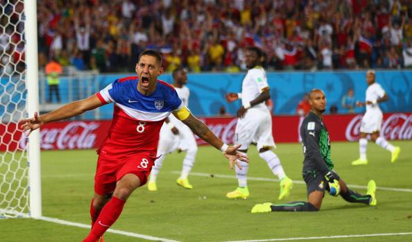 But de Dempsey pour les Etats-Unis face au Ghana, coupe du monde 2014 au brésil (Photo by Michael Steele/Getty Images)