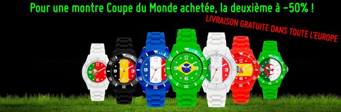 Les montres se mettent aussi aux couleurs de la coupe du monde !