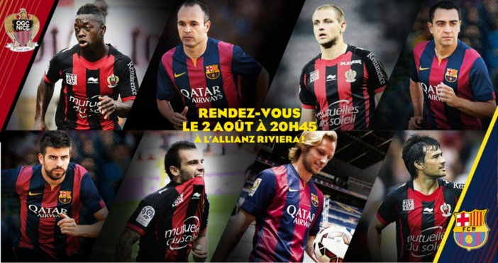 Le 2 août prochain, l'OGC Nice reçoit le FC Barcelone, à l'Allianz Riviera !