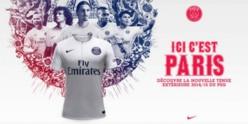 Le PSG dévoile son maillot extérieur pour la saison 2014/2015