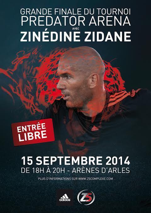 Tournoi Predator Arena d'adidas : Zinédine Zidane entre dans l'arène !