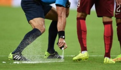 Le spray interdit en  Bundesliga