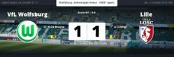 Ligue Europa : nouveau résultat nul pour Lille contre Wolfsburg