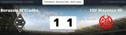 Bundesliga : match nul entre Mönchengladbach et Mayence