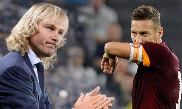 Juventus : Nedved tacle Totti !