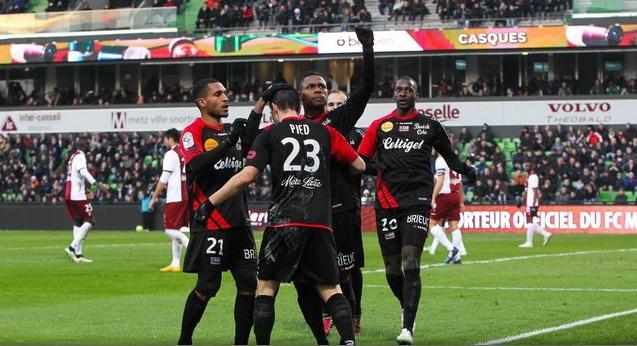 Guingamp s'impose et enfonce Metz