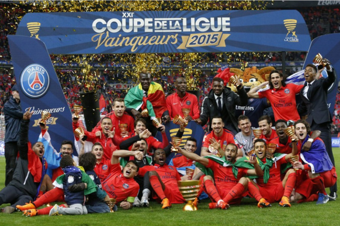 Le Paris Saint-Germain remporte la coupe de la Ligue