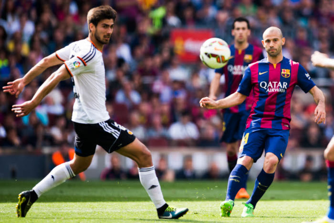 Pour Javier Mascherano, souverain, et le Barça, le FC Valence d'Andre Gomes n'a pas pesé bien lourd.
