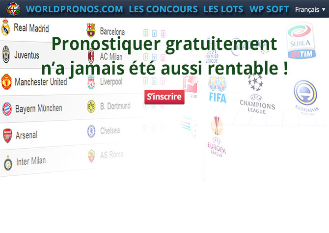 NOS CONCOURS DE PRONOSTICS GRATUITS SONT OUVERTS