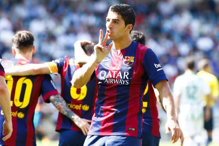 Si le Barça a frappé 8 fois à Cordoue, Luis Suarez a lui planté à trois reprises sous le soleil andalou.