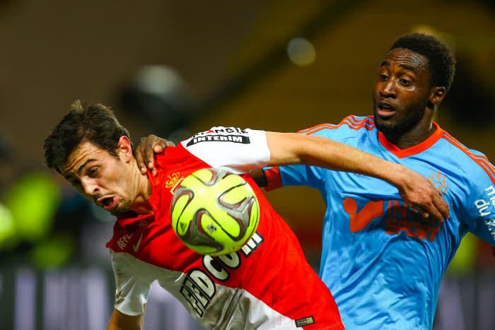 Le duel entre Bernardino Silva et Brice Djadjedje sera un temps fort d'un Marseille-Monaco crucial pour la 3e place.