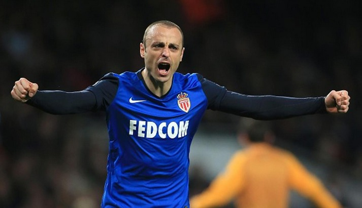 L'attaquant bulgare de l'AS Monaco Dimitar Berbatov.