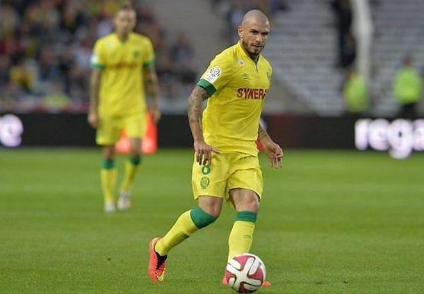 Le milieu de terrain du FC Nantes Vincent Bessat