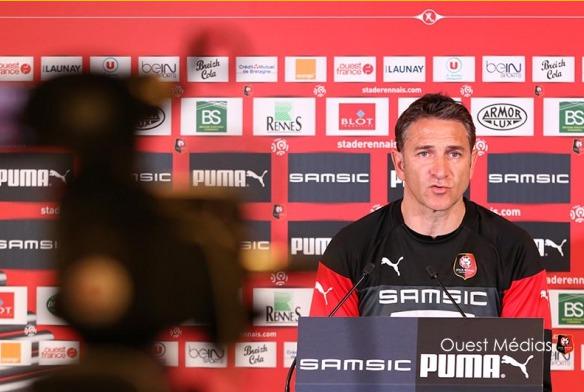 L'entraîneur du Stade Rennais Philippe Montanier
