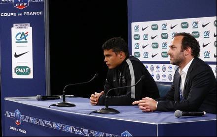PSG-Thiago Silva : « Je ne suis pas à 100% »