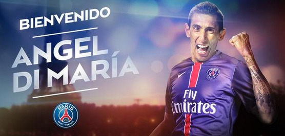 Officiel :  Angel Di Maria s'engage jusqu'en 2019 au PSG