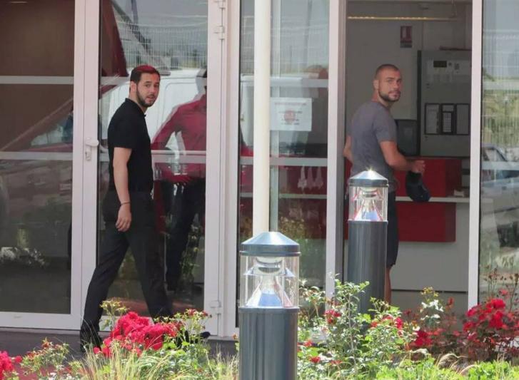 Photo de l'arrivée de Jaba Kankava à Reims au centre Louis Blériot prise par Evan Aymeric et Rod