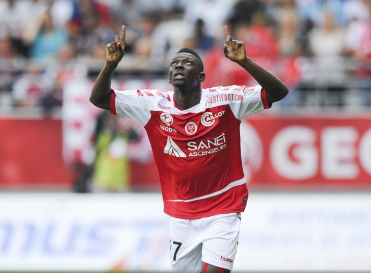 Le défenseur latéral droit de Reims Hamari Traoré buteur contre Marseille (Source photo MadeinFoot)