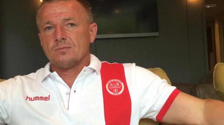 L'entraîneur du Stade de Reims, Olivier Guégan
