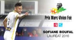 Sofiane Boufal a remporté le Prix Marc-Vivien Foé