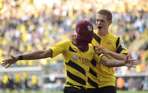 Pierre-Emerick Aubameyang au Borussia Dortmund ( crédit Pinderkhara)