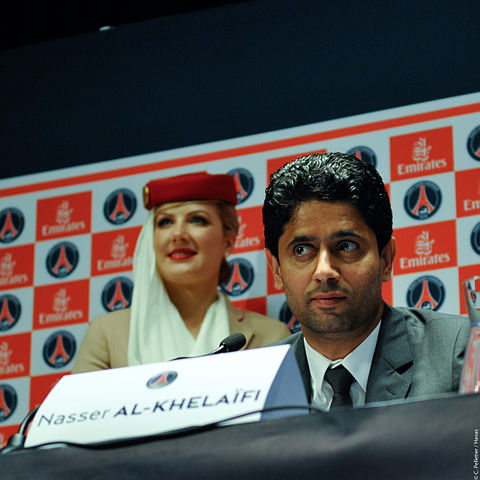Nasser Al-Khelaïfi, president of Paris Saint-Germain (crédit photo Christophe Pelletier )