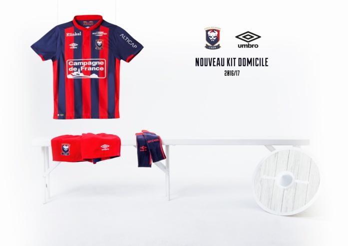 Umbro présente le nouveau maillot SM Caen Home 2016/2017