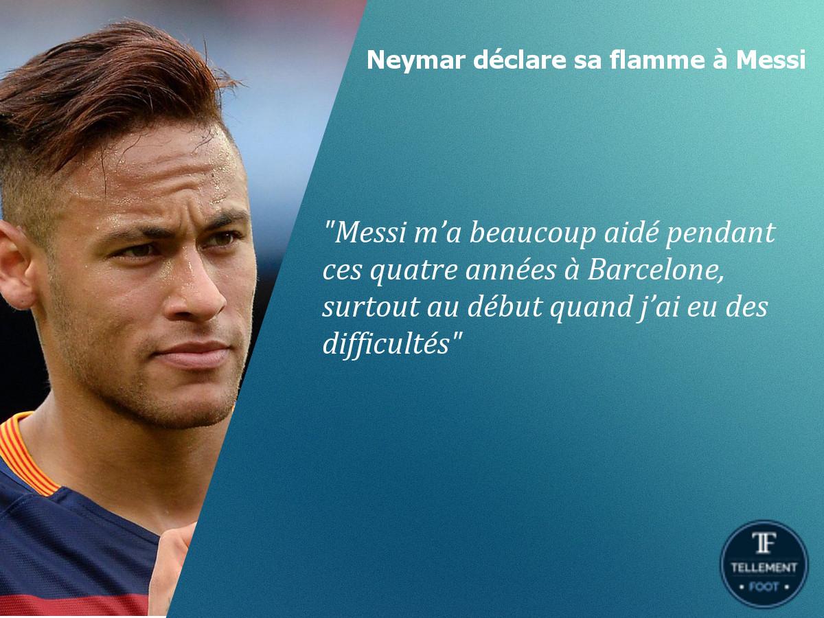 Barça : Neymar déclare sa flamme à Messi