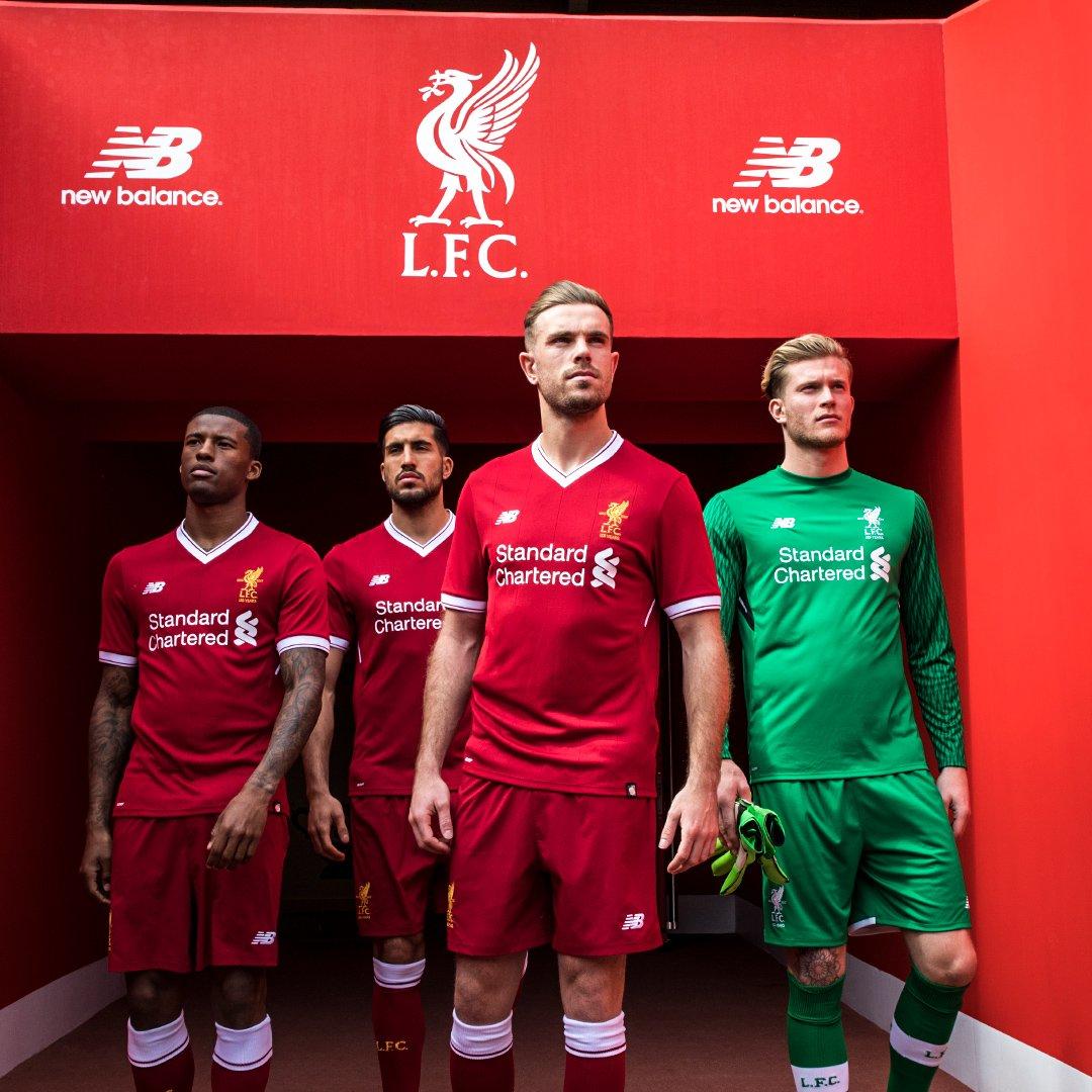 Le maillot tout en sobriété de Liverpool, saison 2017/2018