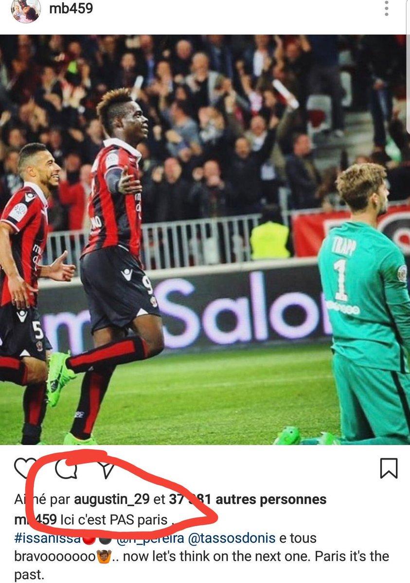 Nice : Balotelli chambre le PSG, Augustin like