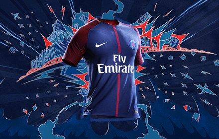 Le maillot domicile du PSG pour la saison 2017/2018