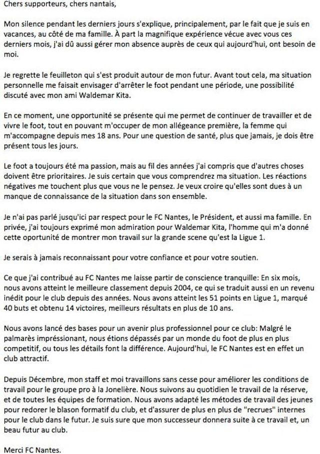 FC Nantes : Sergio Conceiçao sort enfin du silence !
