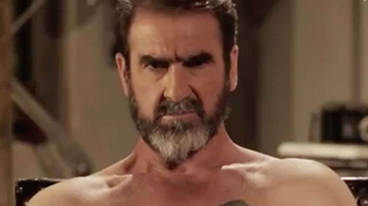 Cantona tacle violemment Deschamps