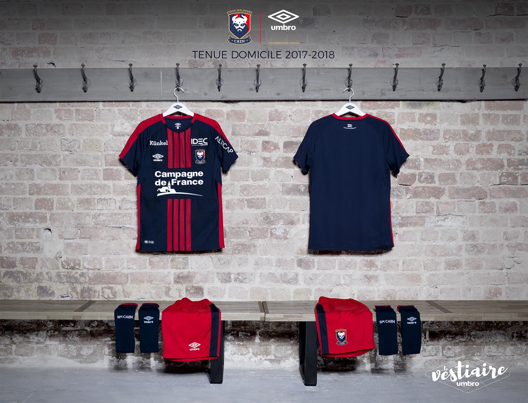 Umbro dévoile le maillot du SM Caen saison 2017/2018