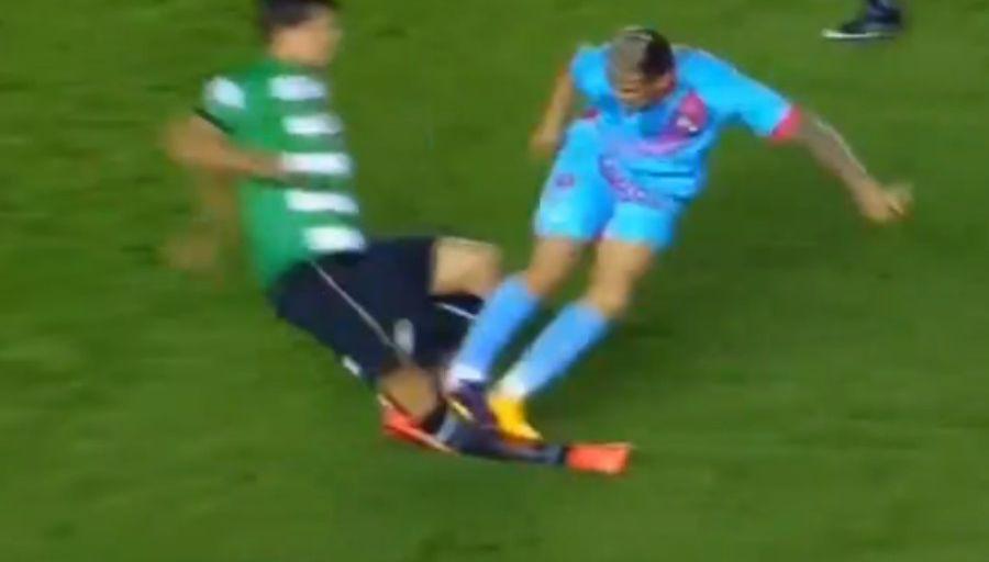 L'horrible tacle de Rodrigo Contreras sur Renato Civelli !