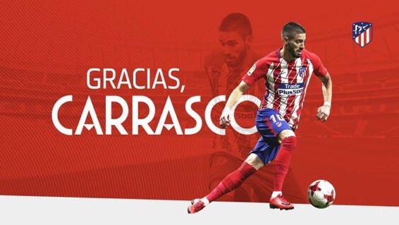 Mercato Atlético Madrid : Yannick Carrasco communique sur son départ en Chine