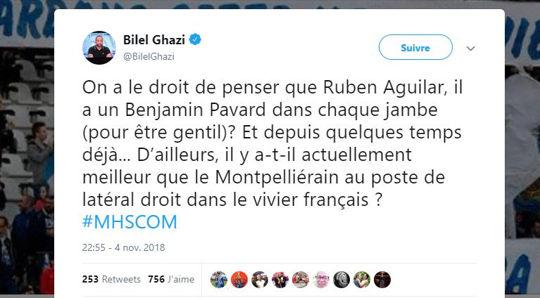 MHSC : Ruben Aguilar mérite l'équipe de France