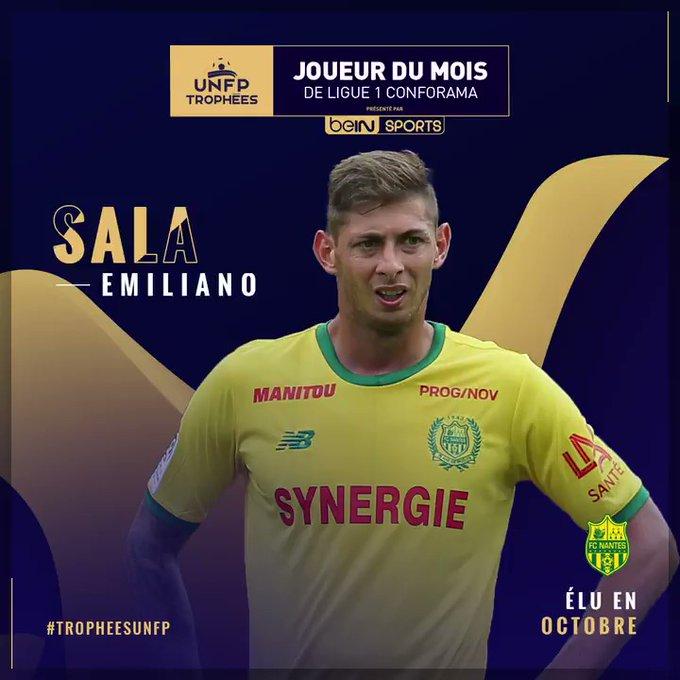 FC Nantes : Emiliano Sala joueur du mois d'octobre UNFP