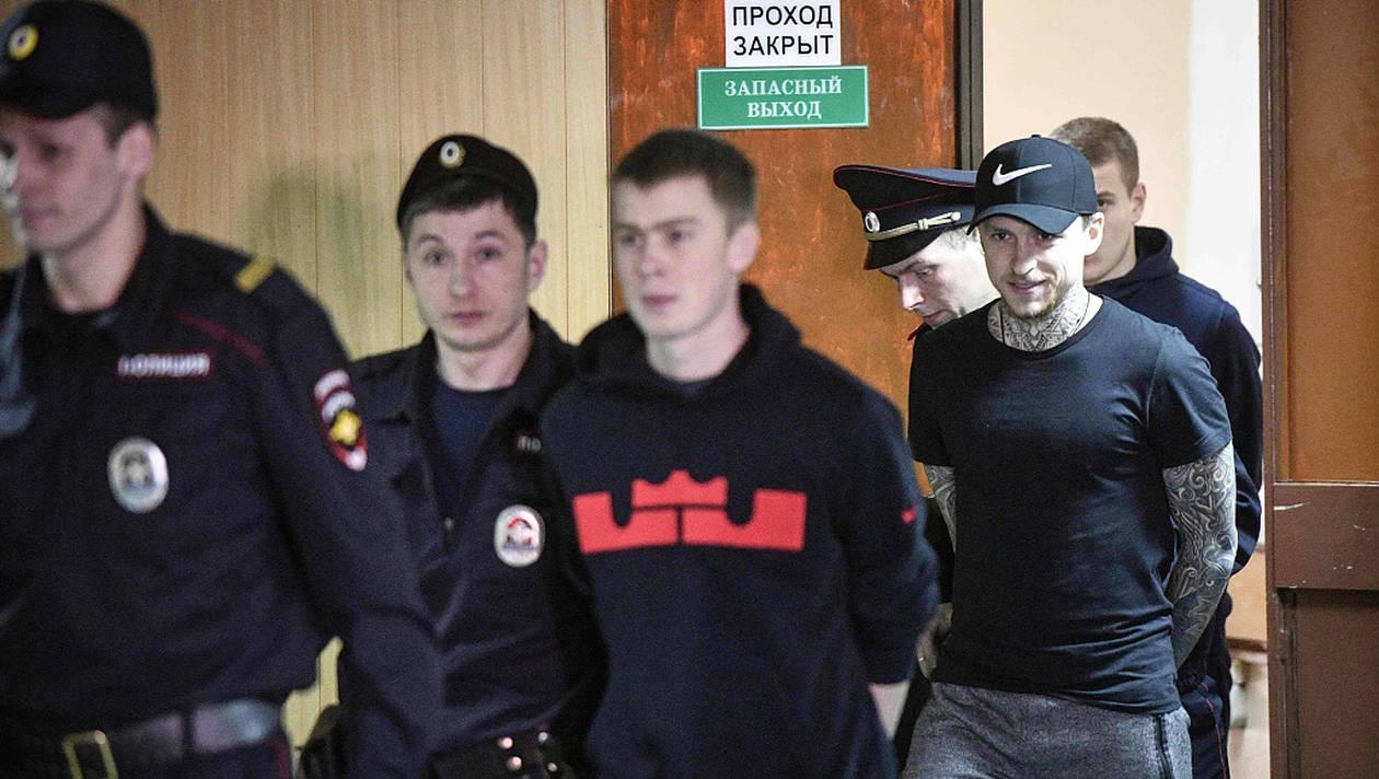 Prison ferme pour Aleksandr Kokorin et Pavel Mamaev - AFP