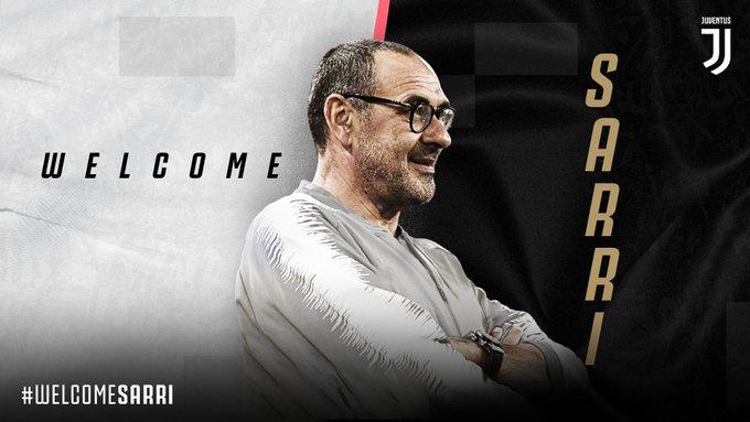 OFFICIEL : Maurizio Sarri nouveau coach de la Juventus
