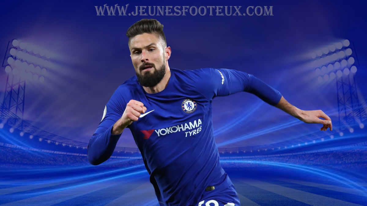 Chelsea : Olivier Giroud, attaquant international français des Blues