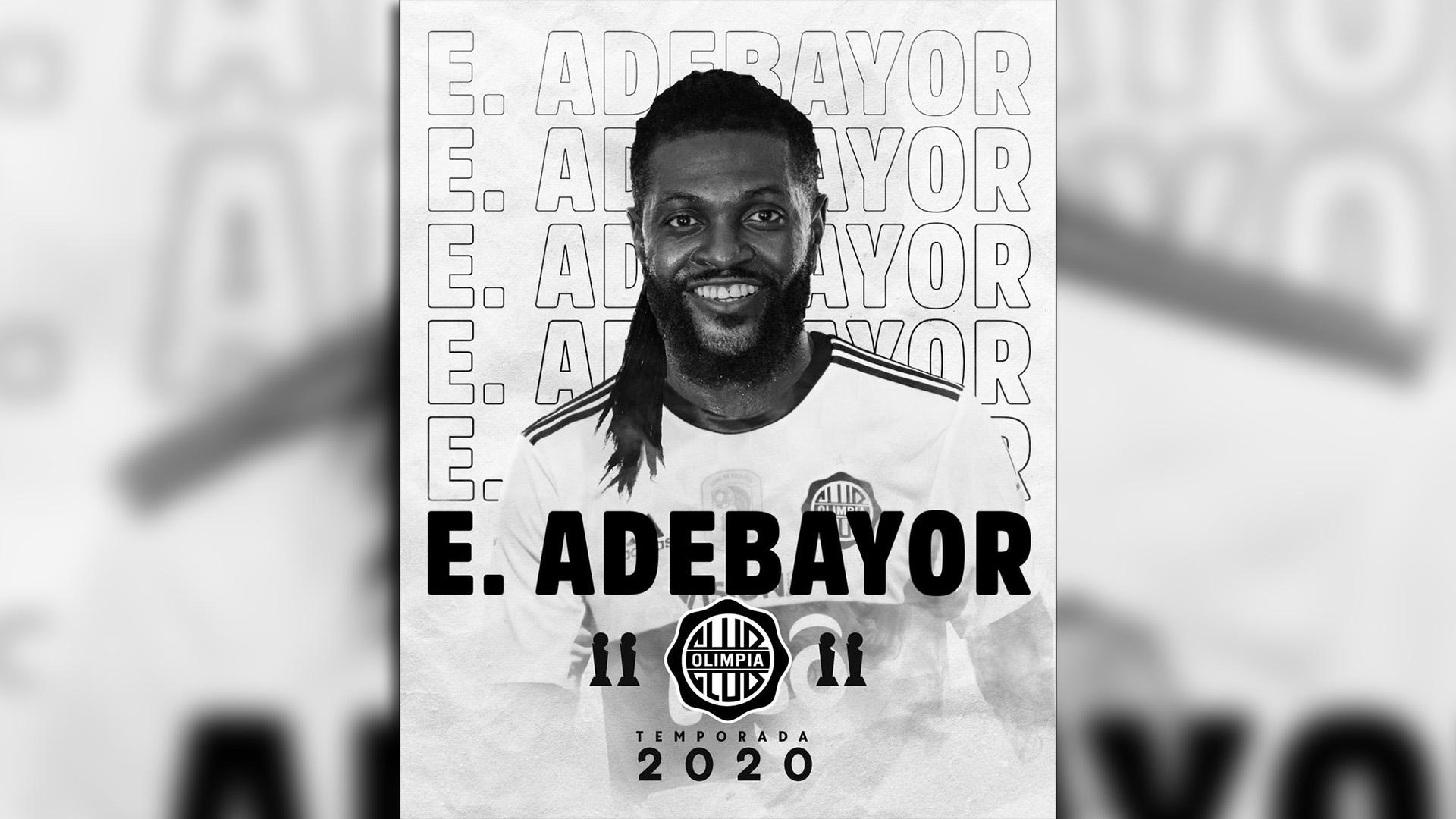 Club Olimpia : Emmanuel Adebayor
