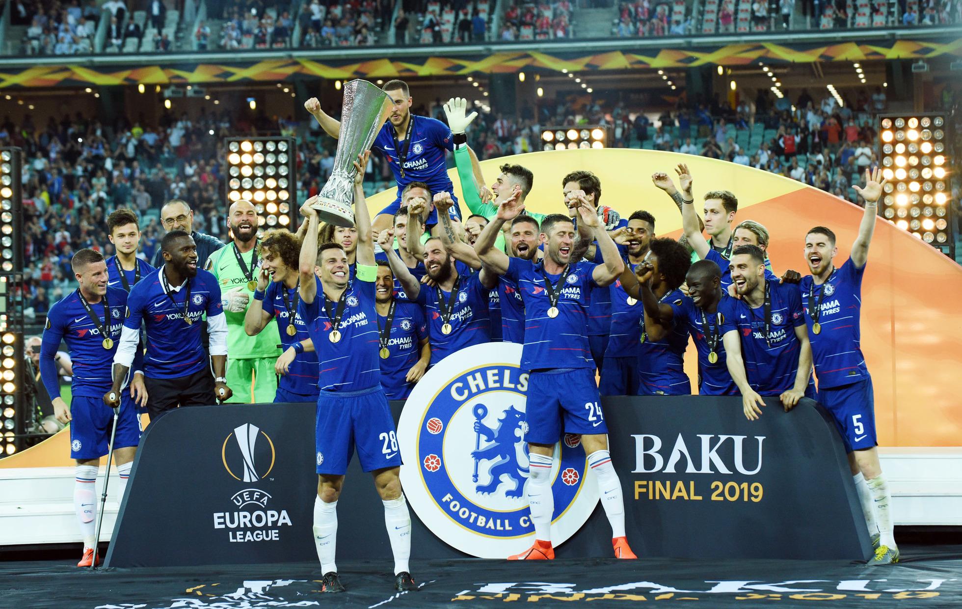 Joueurs du Chelsea FC vainqueur de l'Europa League 2018-2019 contre Arsenal