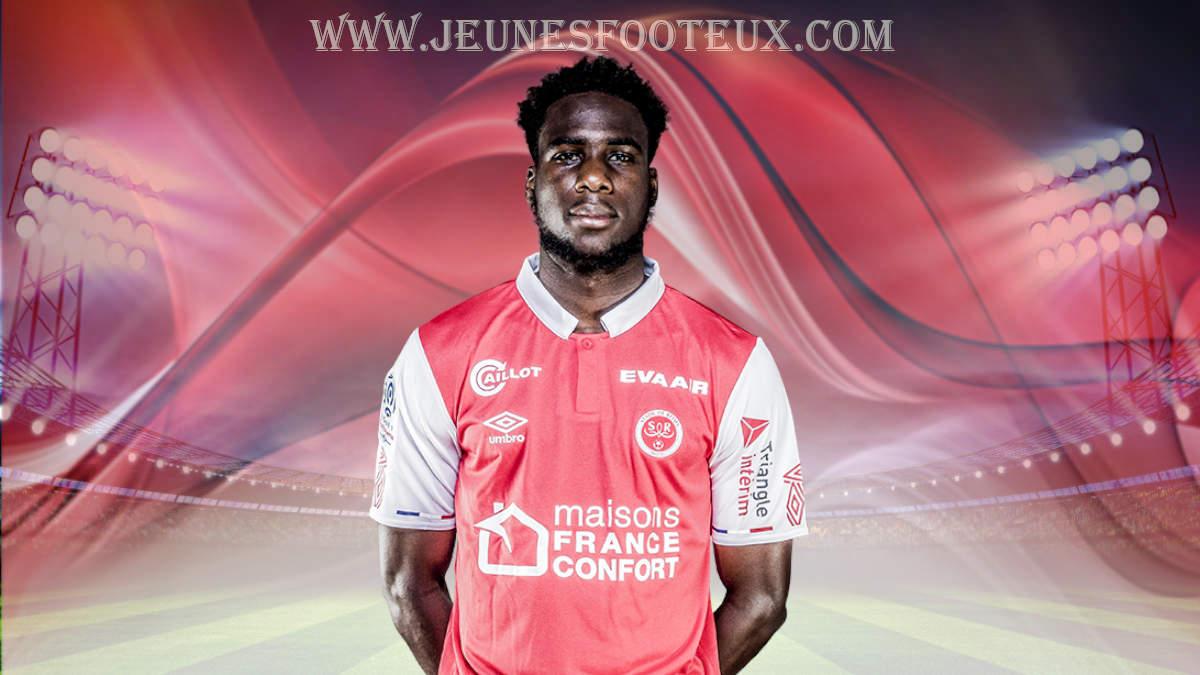 Boulaye Dia, attaquant du Stade de Reims