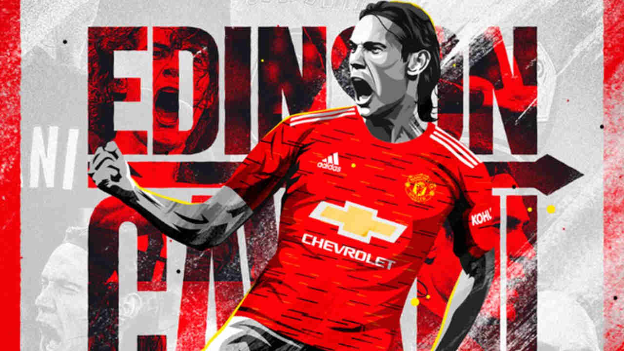 Edinson Cavani, attaquant de Manchester United