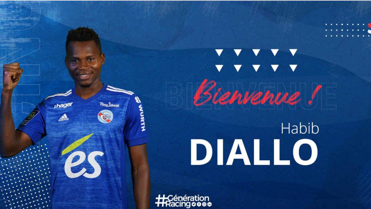 Habib Diallo, attaquant de Strasbourg