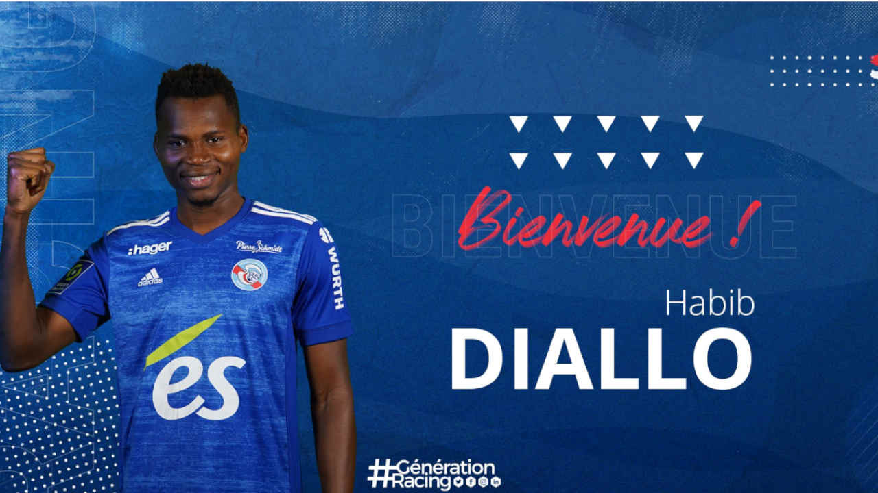 Habib Diallo, attaquant du RC Strasbourg