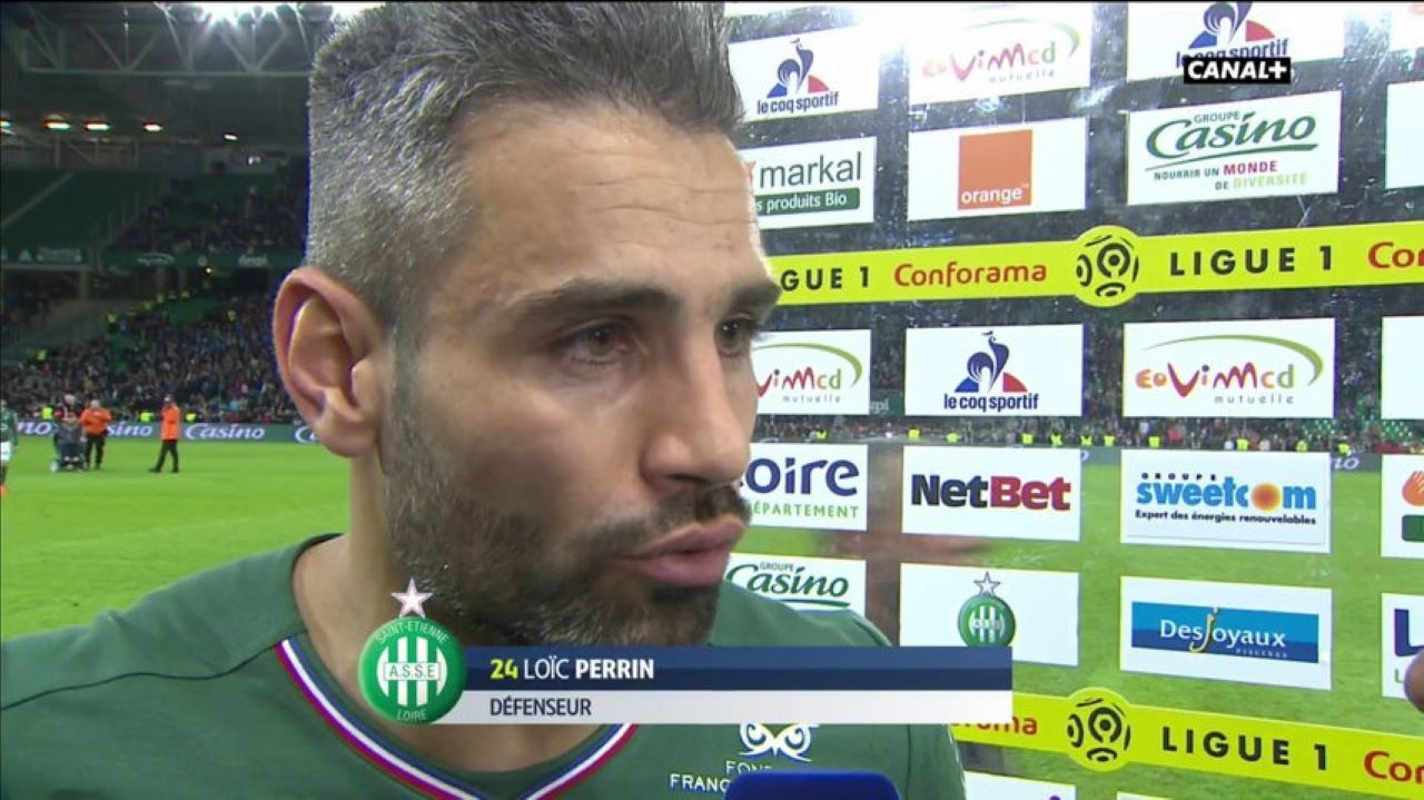 ASSE - PSG : Loïc Perrin / Kylian Mbappé.