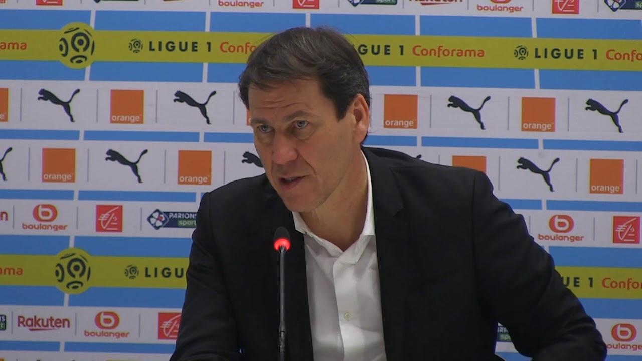 Rudi Garcia en conférence de presse avant Angers - Lyon